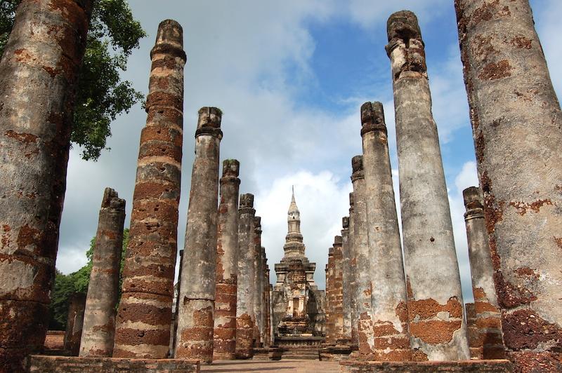 pilars in sukhothai