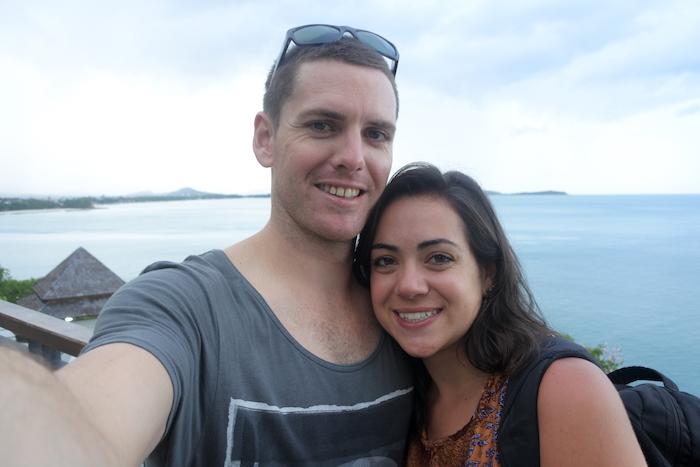 Greg and Ana's first picture in Ko Samui