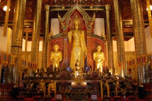 Buddha in temple in Chiang Mai